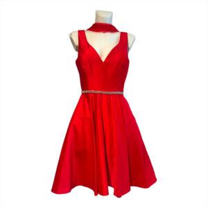 Abito ballerina rosso valentino - Boutique Viggiani - Abbigliamento donna casual e cerimonia a Pisticci