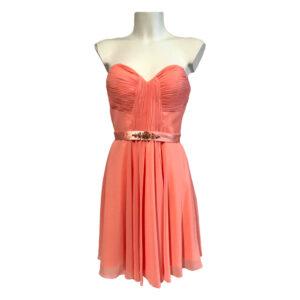 Abito corto rosa salmone - Boutique Viggiani - Abbigliamento donna casual e cerimonia a Pisticci