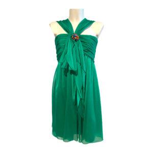 Abito corto stile impero verde - Boutique Viggiani - Abbigliamento donna casual e cerimonia a Pisticci