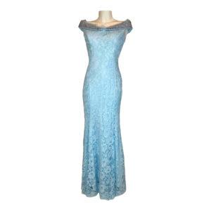 Abito in pizzo celeste - Boutique Viggiani - Abbigliamento donna casual e cerimonia a Pisticci