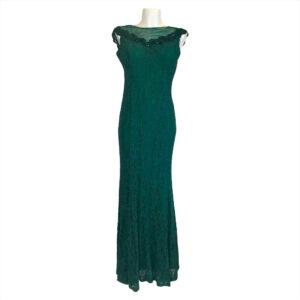 Abito lungo di pizzo verde bosco - Boutique Viggiani - Abbigliamento donna casual e cerimonia a Pisticci