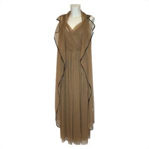 Abito lungo in tulle beige - Boutique Viggiani - Abbigliamento donna casual e cerimonia a Pisticci
