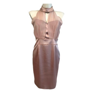 Abito tubino rosa cipria - Boutique Viggiani - Abbigliamento donna casual e cerimonia a Pisticci