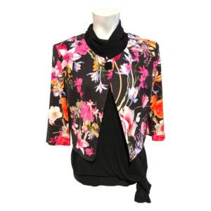 Bolero broccato fantasia floreale - Boutique Viggiani - Abbigliamento donna casual e cerimonia a Pisticci