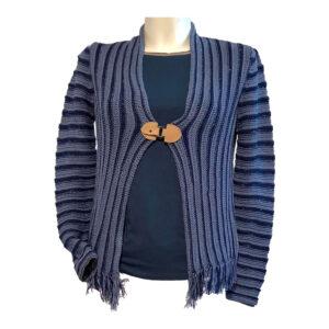 Giacchino filo cotone nuances marine - Boutique Viggiani - Abbigliamento donna casual e cerimonia a Pisticci