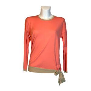 Maglia in filo color salmone e beige - Boutique Viggiani - Abbigliamento donna casual e cerimonia a Pisticci