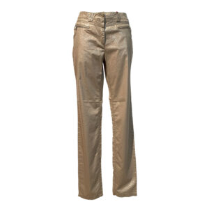 Pantalone modello denim tessuto jacquard beige e platino - Boutique Viggiani - Abbigliamento donna casual e cerimonia a Pisticci