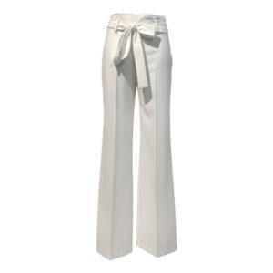 Pantalone palazzo bianco con cintura in vita - Boutique Viggiani - Abbigliamento donna casual e cerimonia a Pisticci