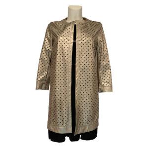 Soprabito in ecopelle traforata oro - Boutique Viggiani - Abbigliamento donna casual e cerimonia a Pisticci