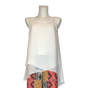 Top in georgette bianco - Boutique Viggiani - Abbigliamento donna casual e cerimonia a Pisticci