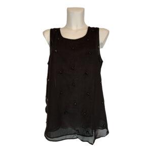Top in georgette nero - Boutique Viggiani - Abbigliamento donna casual e cerimonia a Pisticci