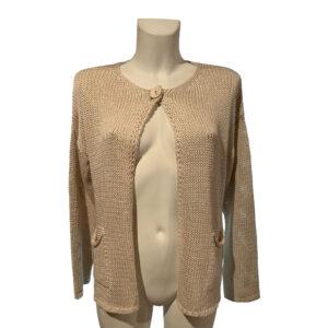 Bolero in filo beige - Boutique Viggiani - Abbigliamento donna casual e cerimonia a Pisticci