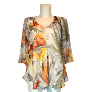 Casacca a fantasia floreale - Boutique Viggiani - Abbigliamento donna casual e cerimonia a Pisticci