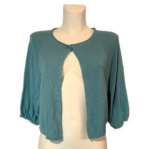 Giacchino in filo verde acqua - Boutique Viggiani - Shopping online - Abbigliamento donna casual e cerimonia a Pisticci