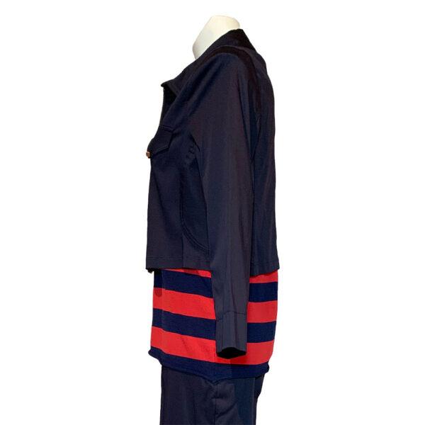 Giubbotto corto blu con zip
