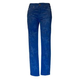 Pantalone bluette con stampa floreale - Boutique Viggiani - Shopping online - Abbigliamento donna casual e cerimonia a Pisticci