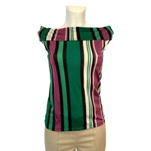 Top a righe con scollatura a barca - Boutique Viggiani - Shopping online - Abbigliamento donna casual e cerimonia a Pisticci