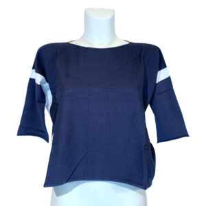 Maglia in filo blu e bianca - Boutique Viggiani - Abbigliamento donna casual e cerimonia a Pisticci