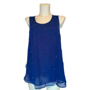 Top in georgette bluette - Boutique Viggiani - Abbigliamento donna casual e cerimonia a Pisticci