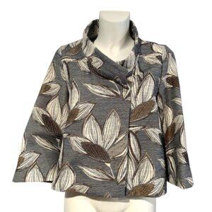 Giacca a fiori beige e grigio - Boutique Viggiani - Shopping online - Abbigliamento donna casual e cerimonia a Pisticci