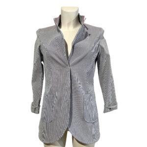 Giacca millerighe blu e bianco - Boutique Viggiani - Shopping online - Abbigliamento donna casual e cerimonia a Pisticci