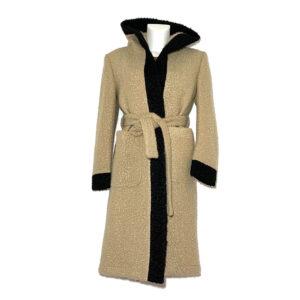 Cappotto vestaglia in bouclé beige - Boutique Viggiani - Shopping online - Abbigliamento donna casual e cerimonia a Pisticci