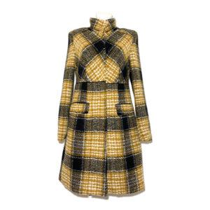 Cappotto a quadri giallo / nero / panna - Boutique Viggiani - Shopping online - Abbigliamento donna casual e cerimonia a Pisticci