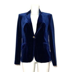 Giacca di velluto cinigliato blu - Boutique Viggiani - Shopping online - Abbigliamento donna casual e cerimonia a Pisticci
