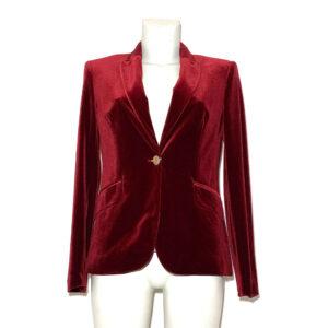Giacca di velluto cinigliato bordeaux - Boutique Viggiani - Shopping online - Abbigliamento donna casual e cerimonia a Pisticci