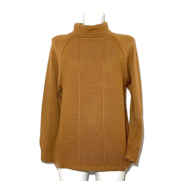 Maglia in lana a collo alto color visone - Boutique Viggiani - Shopping online - Abbigliamento donna casual e cerimonia a Pisticci