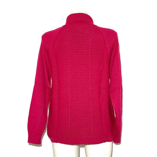 Maglia in lana a collo alto fucsia - Boutique Viggiani - Shopping online - Abbigliamento donna casual e cerimonia a Pisticci