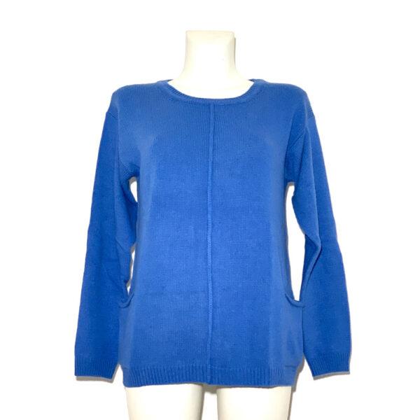 Maglia in lana azzurro indaco - Boutique Viggiani - Shopping online - Abbigliamento donna casual e cerimonia a Pisticci