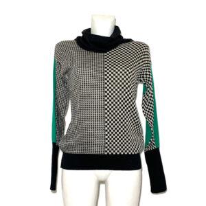 Maglia in lana con fantasia a scacchi - Boutique Viggiani - Shopping online - Abbigliamento donna casual e cerimonia a Pisticci