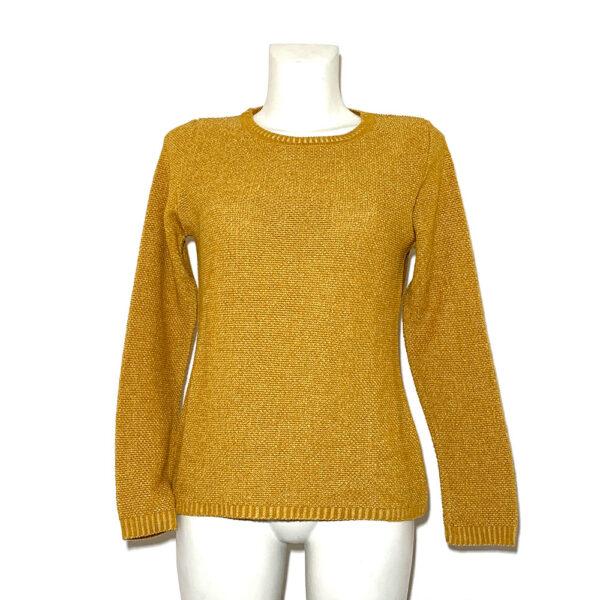 Maglia in lana giallo senape - Boutique Viggiani - Shopping online - Abbigliamento donna casual e cerimonia a Pisticci