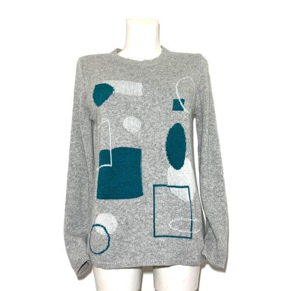 Maglia in lana grigio chiaro fantasie - Boutique Viggiani - Shopping online - Abbigliamento donna casual e cerimonia a Pisticci