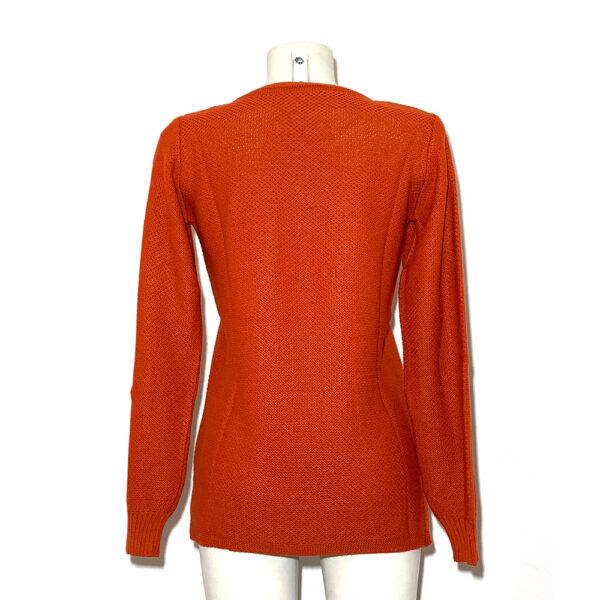 Maglia in lana rosso aragosta - Boutique Viggiani - Shopping online - Abbigliamento donna casual e cerimonia a Pisticci