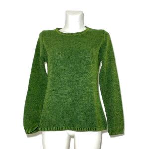 Maglia in lana verde prato - Boutique Viggiani - Shopping online - Abbigliamento donna casual e cerimonia a Pisticci