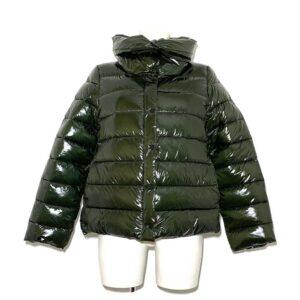 Piumino corto verde simil piuma - Boutique Viggiani - Shopping online - Abbigliamento donna casual e cerimonia a Pisticci