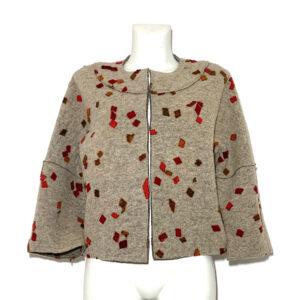 Giacca in lana cotta beige - Boutique Viggiani - Shopping online - Abbigliamento donna casual e cerimonia a Pisticci