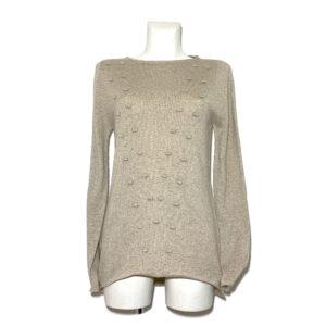 Maglia in lana beige / lurex - Boutique Viggiani - Shopping online - Abbigliamento donna casual e cerimonia a Pisticci
