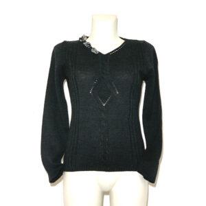 Maglia in lana grigio antracite - Boutique Viggiani - Shopping online - Abbigliamento donna casual e cerimonia a Pisticci