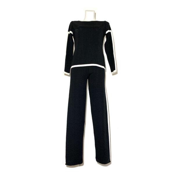Maglia nera con fasce bianche - Boutique Viggiani - Shopping online - Abbigliamento donna casual e cerimonia a Pisticci