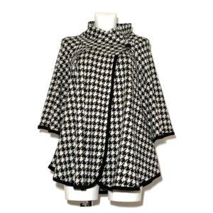 Mantella macro pied de poule nero e bianco - Boutique Viggiani - Shopping online - Abbigliamento donna casual e cerimonia a Pisticci