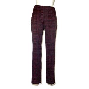Pantalone microfantasia blu, bordeaux e viola - Boutique Viggiani - Shopping online - Abbigliamento donna casual e cerimonia a Pisticci