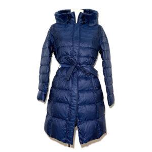 Piumino blu in vera piuma - Boutique Viggiani - Shopping online - Abbigliamento donna casual e cerimonia a Pisticci