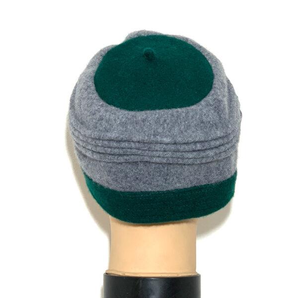 Cappello a calotta verde e grigio - Boutique Viggiani - Shopping online - Abbigliamento donna casual e cerimonia a Pisticci